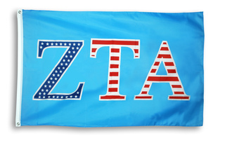 Zeta Tau Alpha 3 X 5 USA Flag