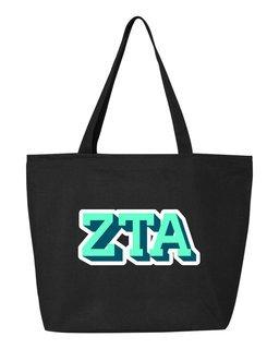 Zeta Tau Alpha 3D Letter Tote Bag