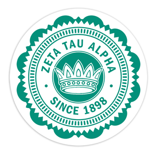 "Zeta Tau Alpha 5"" Sorority Seal Bumper Sticker"