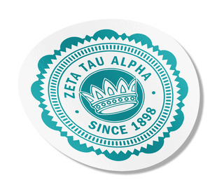 "Zeta Tau Alpha 5"" Sorority Seal Bumper Sticker"