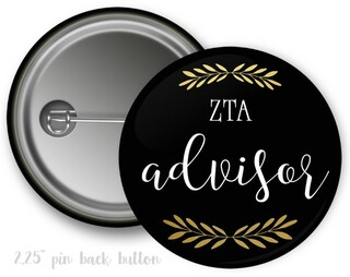 Zeta Tau Alpha Advisor Button