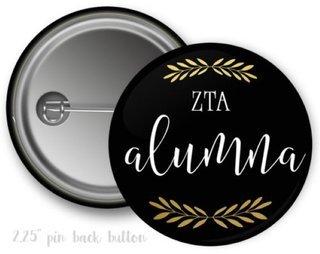 Zeta Tau Alpha Alumna Button