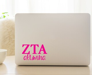 Zeta Tau Alpha Alumna Decal