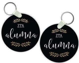 Zeta Tau Alpha Alumna Keychain
