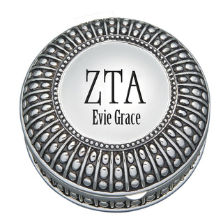 Zeta Tau Alpha Antique Beaded Pin Box