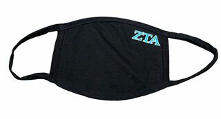 Zeta Tau Alpha Applique Face Masks