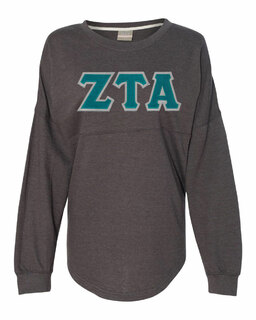 DISCOUNT-Zeta Tau Alpha Athena French Terry Dolman Sleeve Sweatshirt