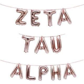 Zeta Tau Alpha Banner Balloon Set
