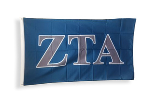 Zeta Tau Alpha Big Greek Letter Flag