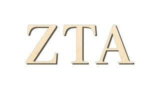 Zeta Tau Alpha Big Wooden Greek Letters
