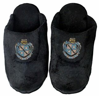 Zeta Tau Alpha Black Solid Slipper