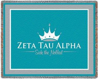 Zeta Tau Alpha Blanket Throw