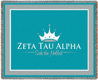 Zeta Tau Alpha Blanket Throw