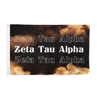Zeta Tau Alpha Bleach Wash Flag