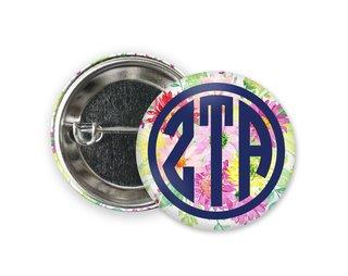 Zeta Tau Alpha Bouquet Button