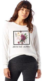 Zeta Tau Alpha Bouquet Slouchy Eco-Jersey Pullover