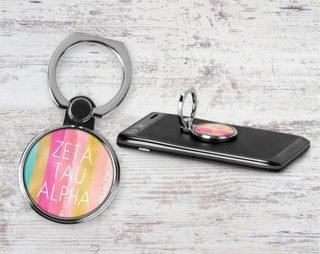 Zeta Tau Alpha Bright Stripes Phone Ring
