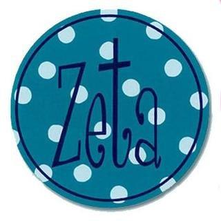 """Zeta Tau Alpha Bumper Stickers 4"""" Round"""