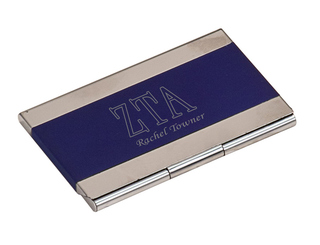 Zeta Tau Alpha Business Card Holder