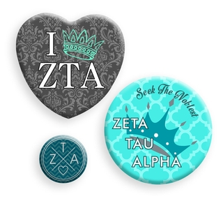 Zeta Tau Alpha Button Set