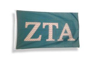Zeta Tau Alpha Chevron Flag