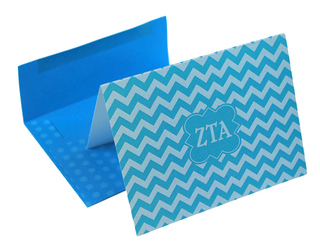 Zeta Tau Alpha Chevron Note Cards w/ Envelopes (10)