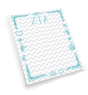Zeta Tau Alpha Chevron Notepad
