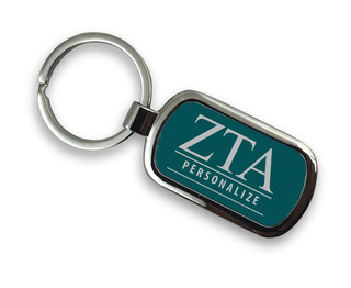 Zeta Tau Alpha Chrome Custom Keychain