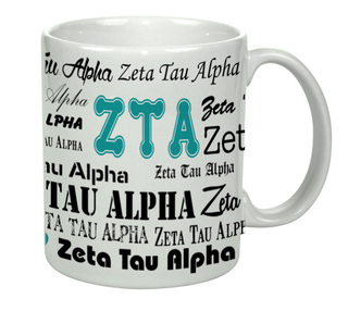 Zeta Tau Alpha Collage Coffee Mug