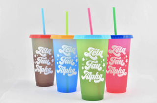 Zeta Tau Alpha Color Changing Cups (Set of 4)