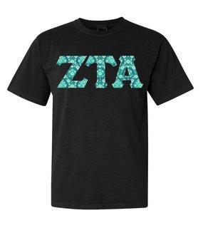 Zeta Tau Alpha Comfort Colors Lettered Greek Short Sleeve T-Shirt