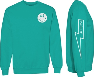 Zeta Tau Alpha Comfort Colors Lightning Crew Sweatshirt