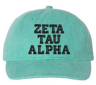 Zeta Tau Alpha Comfort Colors Pigment Dyed Baseball Cap
