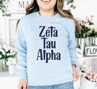 Zeta Tau Alpha Comfort Colors Rosie Crew