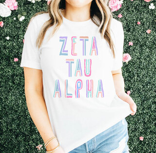 Zeta Tau Alpha Comfort Colors Tinsel Tee