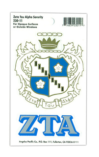 Zeta Tau Alpha Crest Decals