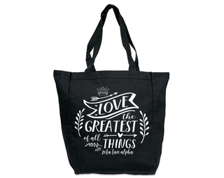 Zeta Tau Alpha Love Is The Greatest Tote bag
