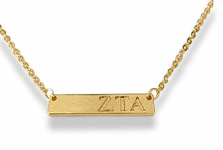 Zeta Tau Alpha Cross Bar Necklace