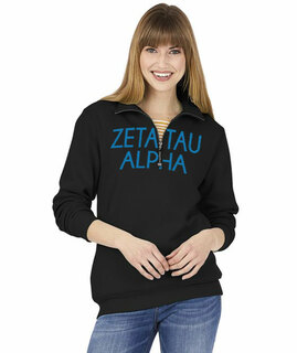 Zeta Tau Alpha Over Zipper Quarter Zipper Sweatshirt