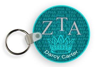 Zeta Tau Alpha Custom Mascot Keychains