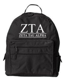 Zeta Tau Alpha Custom Text Backpack