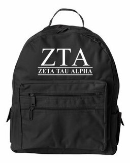 Zeta Tau Alpha Custom Text Backpack