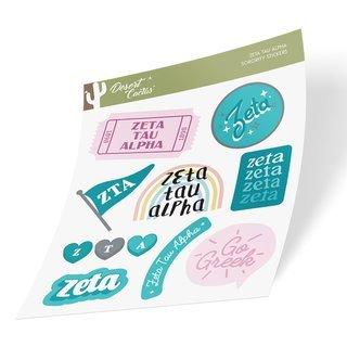 Zeta Tau Alpha Cute Sticker Sheet
