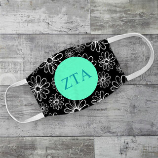 Zeta Tau Alpha Daisies Face Mask