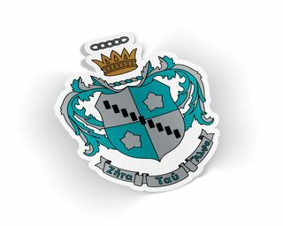 Zeta Tau Alpha Die Cut Crest Sticker