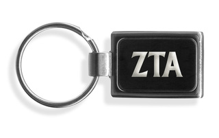 Zeta Tau Alpha Engraved Chrome Keychains