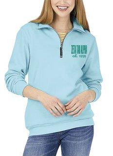 Zeta Tau Alpha Established Crosswind Quarter Zip Sweatshirt
