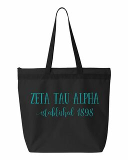 Zeta Tau Alpha Established Tote bag