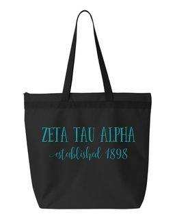 Zeta Tau Alpha Established Tote bag