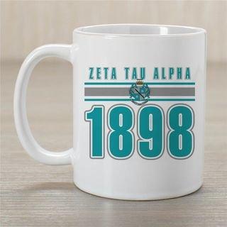 Zeta Tau Alpha Established Year Coffee Mug - Personalized!
